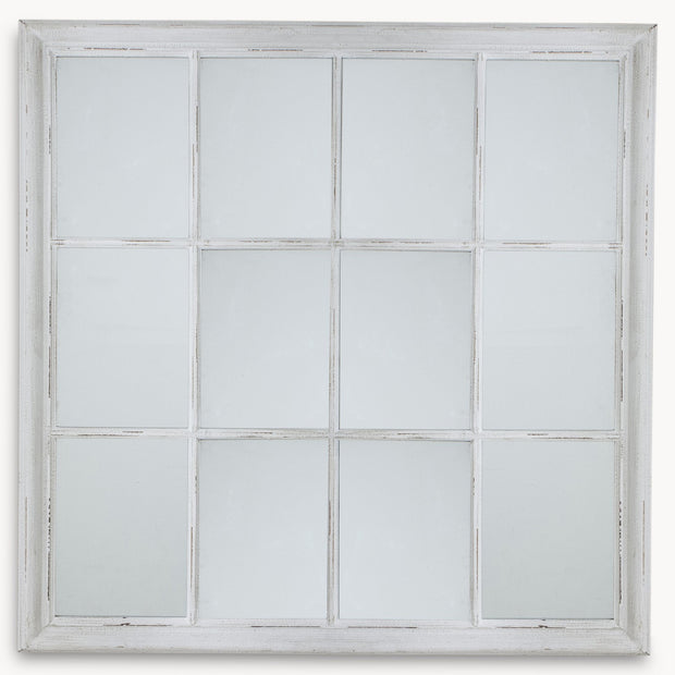 Gridded Mirror - White - Allissias Attic  &  Vintage French Style - 1