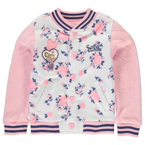 Girls Disney Princess Sofia The First Baseball Jacket - Novelty-Characters - 1