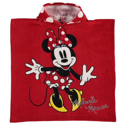 Disney Minnie Mouse Hooded Poncho Towel - Novelty-Characters - 1