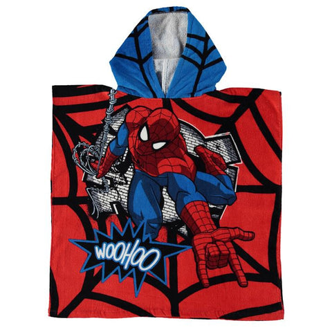 Spiderman Hooded Poncho Towel - Novelty-Characters - 1