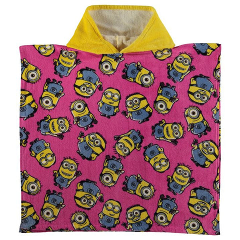 Girls Despicable Me Minion Hooded Poncho Towel - Novelty-Characters - 1
