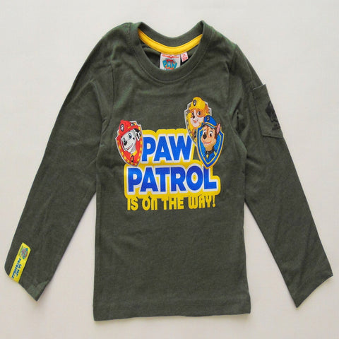 Boys Paw Patrol Long Sleeve T Shirt - Novelty-Characters - 1