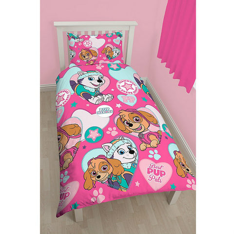 Girls Paw Patrol Single Duvet Cover Set - Novelty-Characters - 1
