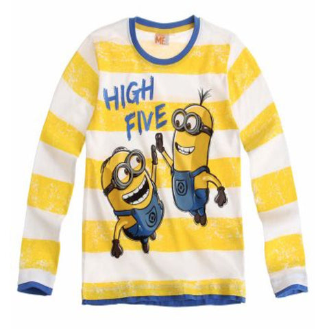 Boys Minions Long Sleeve T Shirt - Novelty-Characters