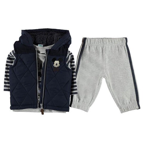 Disney Baby Mickey Mouse Gilet, Top & Joggers Set