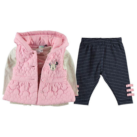 Disney Baby Minnie Mouse Gilet, Leggings & Top Set