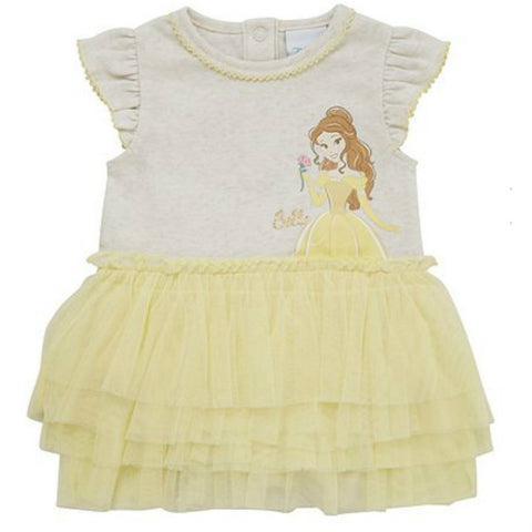Disney Baby Beauty And The Beast Princess Belle Tutu Bodysuit