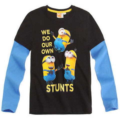 Boys Despicable Me Minions Long Sleeve T Shirt - Novelty-Characters