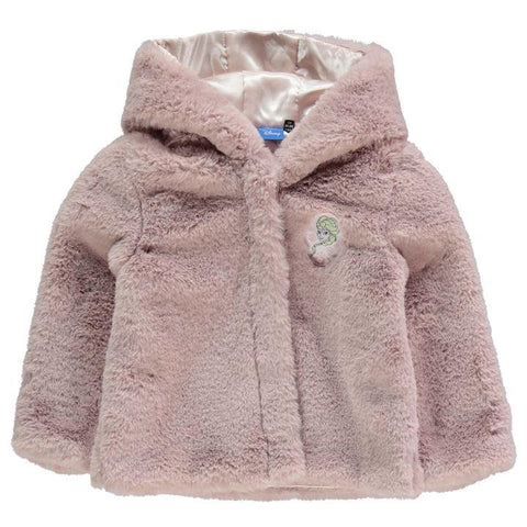 Girls Disney Frozen Elsa Faux Fur Coat