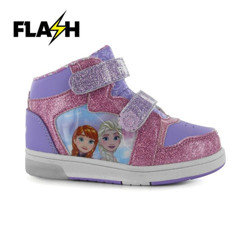 Girls Disney Frozen Light Up Trainers - Novelty-Characters - 1
