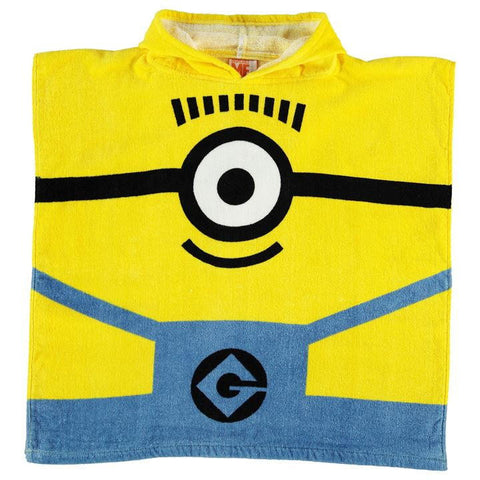 Minion Hooded Poncho Towel