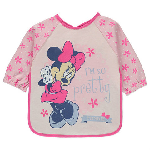 Disney Baby Minnie Mouse Bib With Sleeves