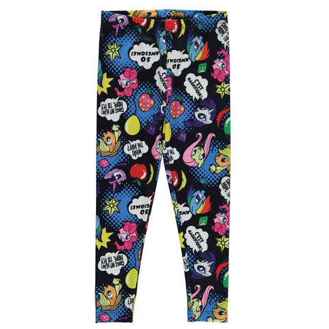 Girls My Little Pony Comic Book Print Leggings