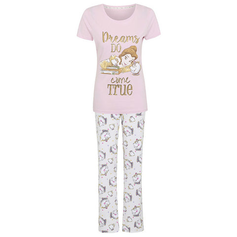 Ladies Disney Beauty And The Beast Belle Pyjamas