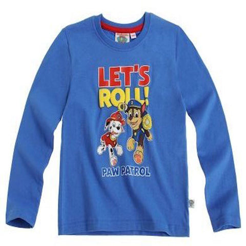 Boys Paw Patrol Long Sleeve T Shirt - Novelty-Characters