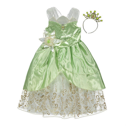 Girls Licensed Disney Princess Tiana Fancy Dress