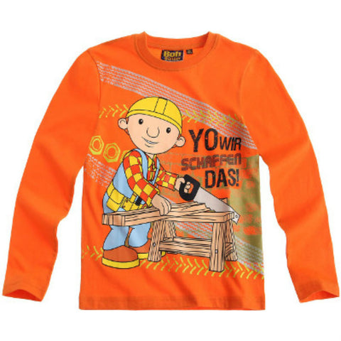 Boys Bob The Builder Long Sleeve T Shirt - Novelty-Characters