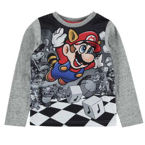 Kids Nintendo Super Mario Long Sleeve Top