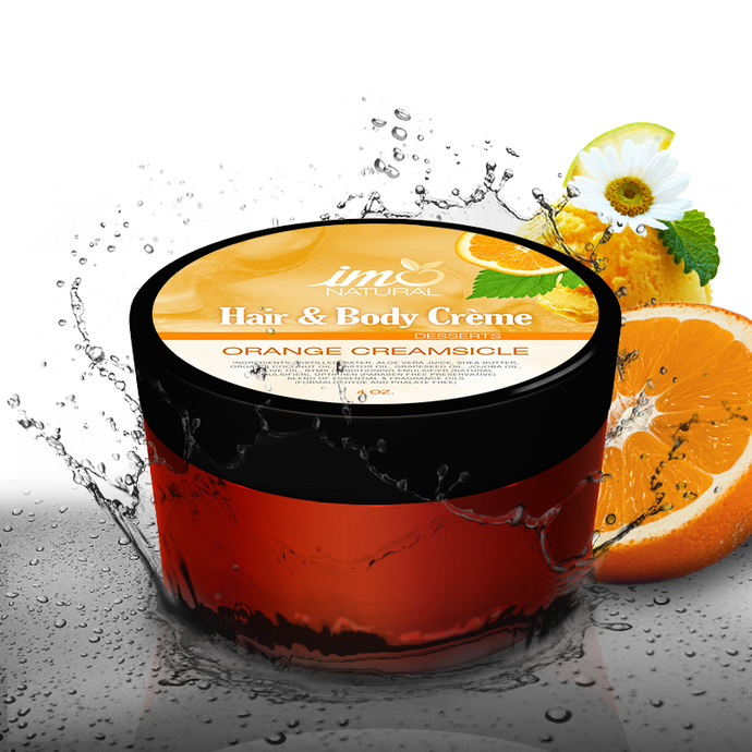 4oz Beauty Orange Creamsicle Body Creme - ImoNatural