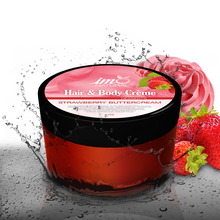 Load image into Gallery viewer, 4oz Beauty Strawberry Buttercream Hair and Body Creme - ImoNatural