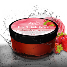 Load image into Gallery viewer, 8oz Beauty Strawberry Buttercream Hair and Body Creme - ImoNatural