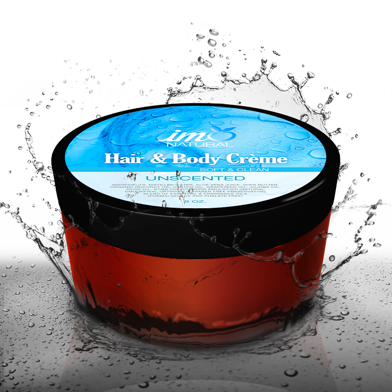 Unscented Hair and Body Creme 8 oz