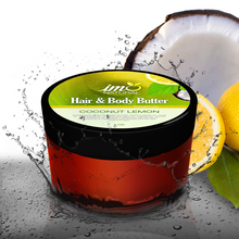 Load image into Gallery viewer, 4oz Beauty Coconut Lemon Hair and Body Butter - ImoNatural