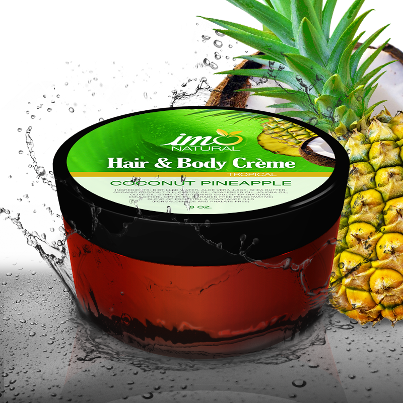 Coconut Pineapple Hair and Body Creme 8 oz