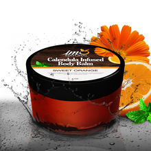 Load image into Gallery viewer, 4 oz Beauty Calendula Infused Body Balm - Sweet Orange - ImoNatural