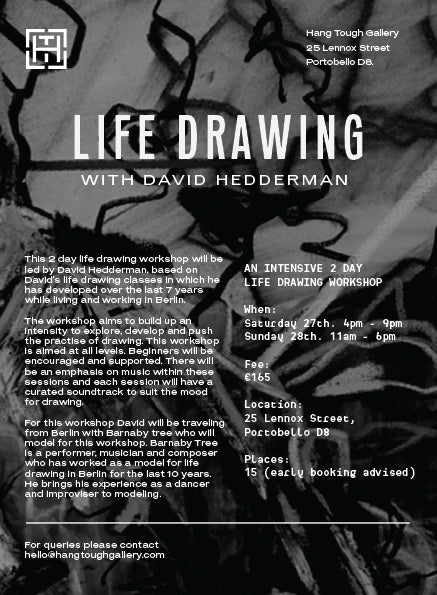 2 Day Life Drawing with David Hedderman & Barnaby Tree