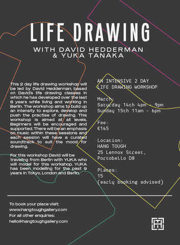 2 Day Life Drawing with David Hedderman & Yuka Tanaka
