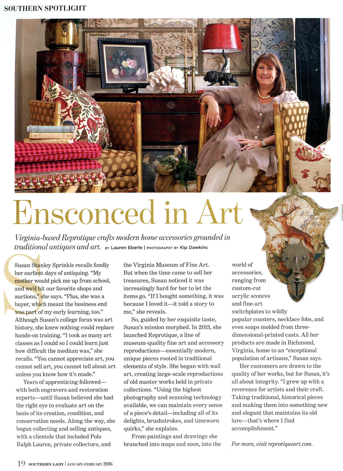 Reprotique Featured in Southern Lady Magazine
