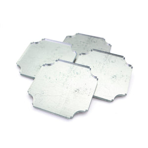 Coasters | Silvered, set of four
