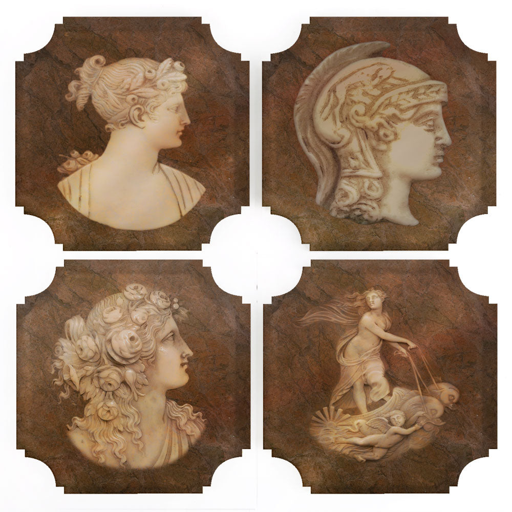 Coasters | Roman Intaglios, set of four
