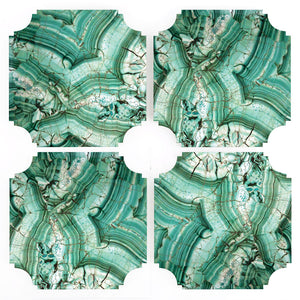 Coasters | Malachite, set of four