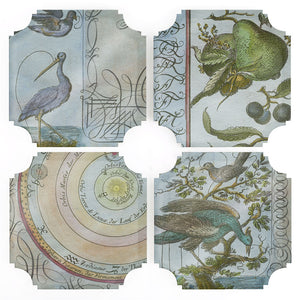 Coasters | Celestial Birds & Pears, set of four
