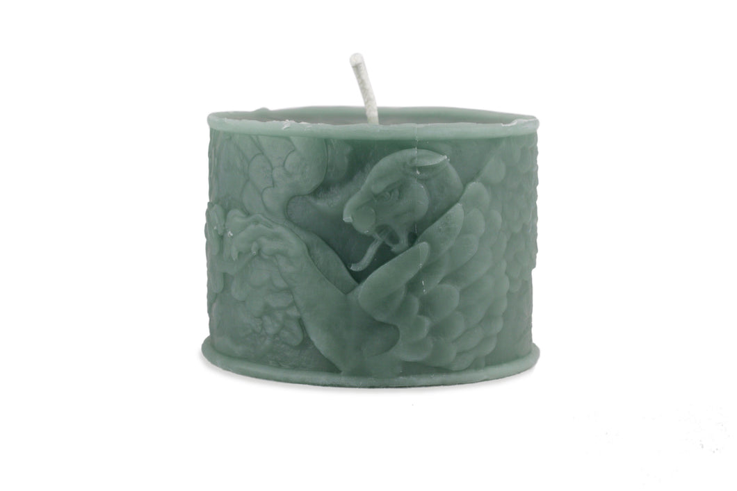 Green Griffin Hand Poured Candle