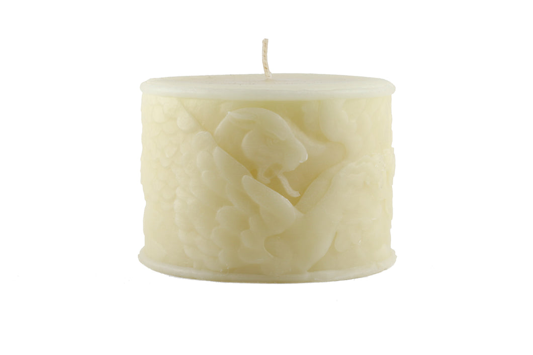 Cream Griffin Hand Poured Candle