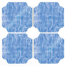 Load image into Gallery viewer, Coasters | Blue Agate, set of four