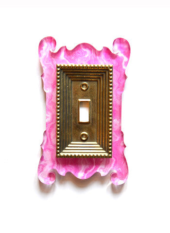 Acrylic + Brass | Rococo Style, Pink Agate