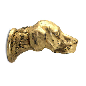 Hand Gilded Dog Head Coat Hook