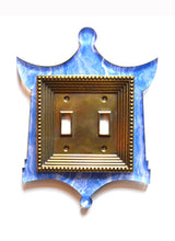 Load image into Gallery viewer, Acrylic + Brass | Pagoda Style, Blue Agate