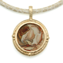 Load image into Gallery viewer, Fob Necklace, Hollar Orange Rose