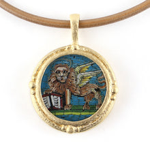 Load image into Gallery viewer, Fob Necklace, Micromosaic Lion
