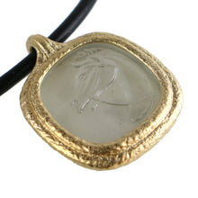 Load image into Gallery viewer, Fob Necklace | Glass Horse Intaglio Gray