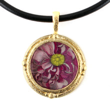 Load image into Gallery viewer, Fob Necklace, Hollar Pink Floral