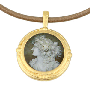 Fob Necklace, Female Cameo