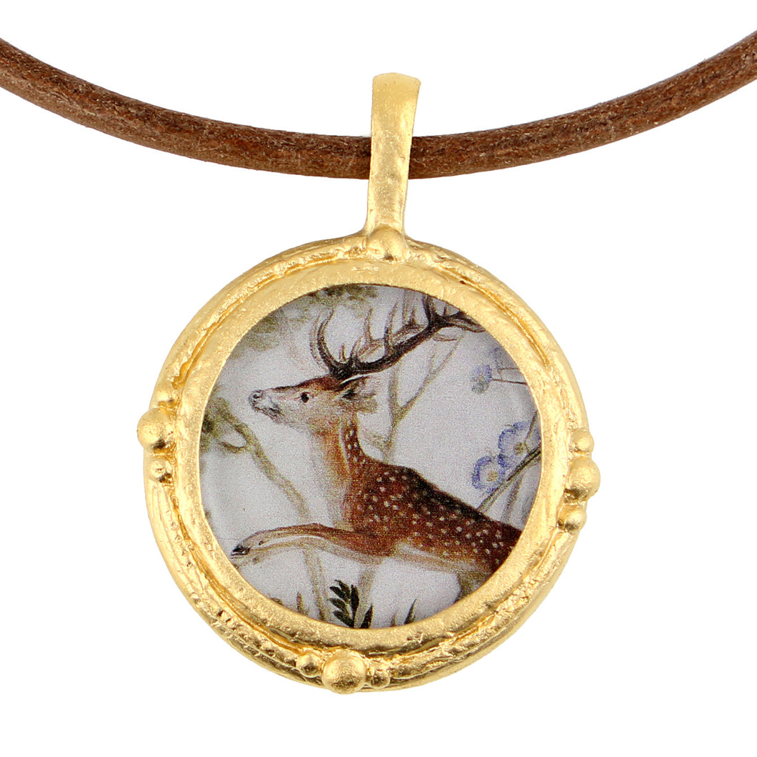 Fob Necklace, Singe Stag