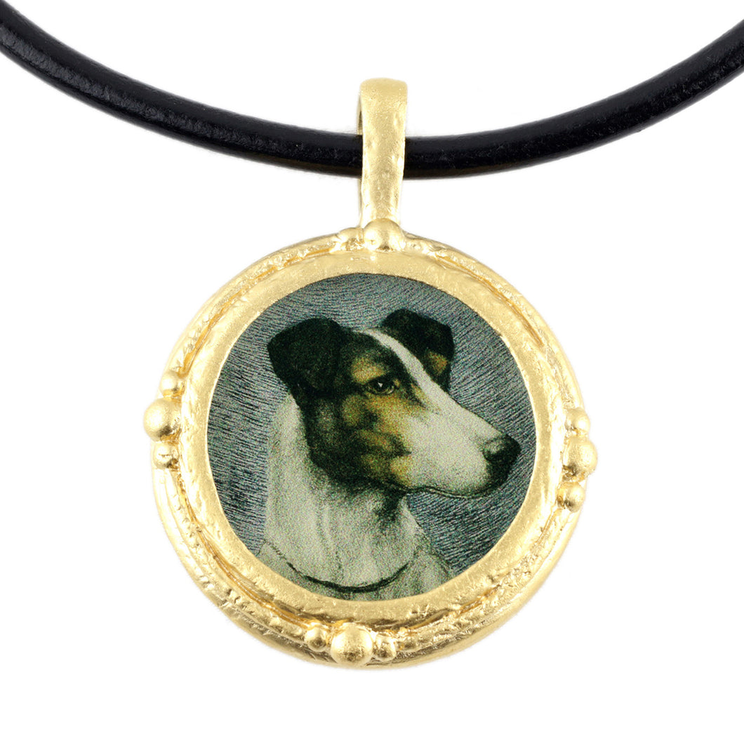 Fob Necklace, Jack Russell