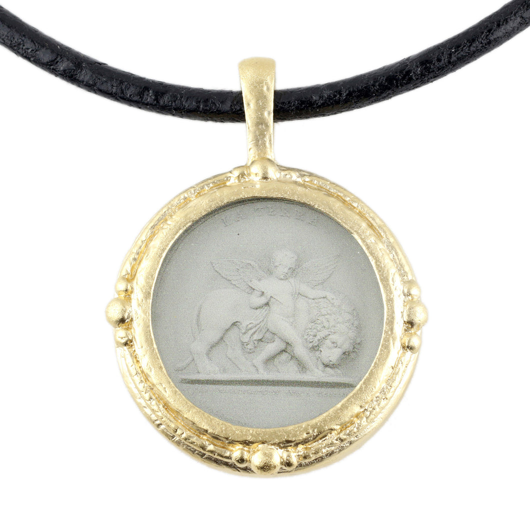 Fob Necklace, Intaglio Cherub